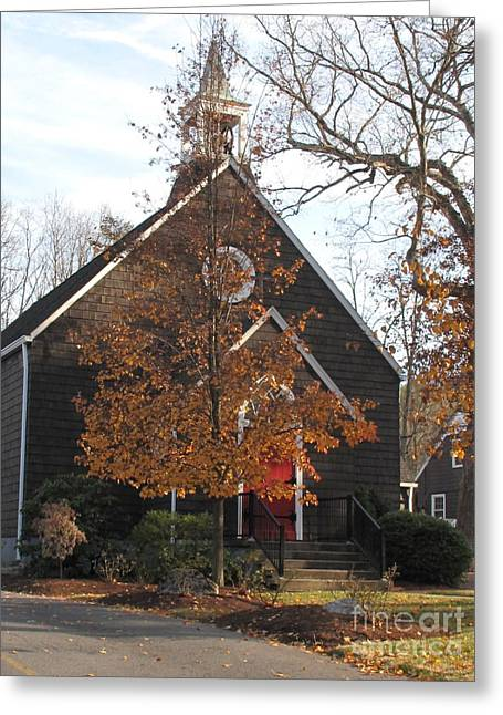 Fall Photographs Paintings Greeting Cards - Church in the Wildwood Greeting Card by Sandy McIntire