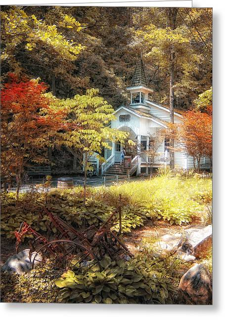 Gatlinburg Tennessee Greeting Cards - Church in the Woods Greeting Card by Gina Cormier