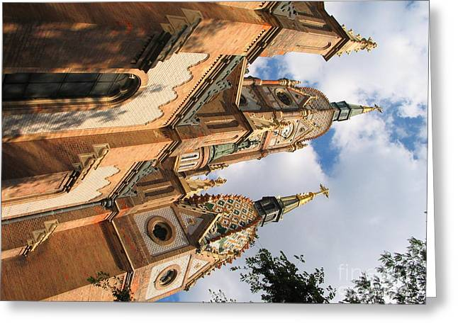 Sweating Photographs Greeting Cards - Church Greeting Card by Odon Czintos