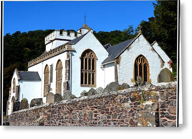 Selworthy Greeting Cards - Church of All Saints in Selworthy Greeting Card by Carla Parris