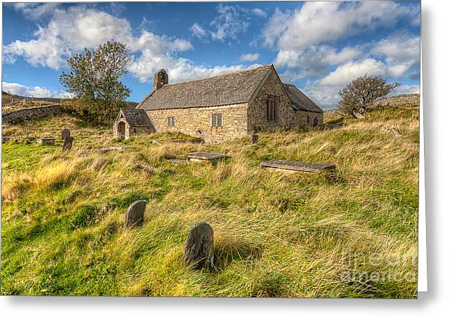 Celynnin Greeting Cards - Church of Celynnin Greeting Card by Adrian Evans