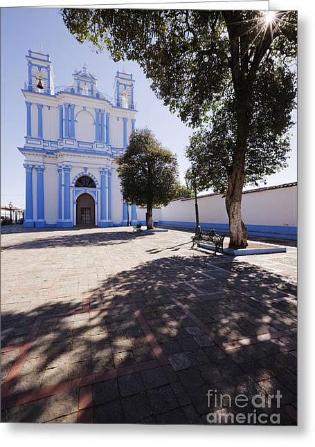 Casting A Shadow Greeting Cards - Church of Santa Lucía Greeting Card by Jeremy Woodhouse