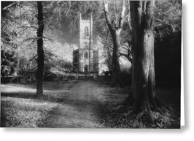 Ghostly Greeting Cards - Church of St Mary Magdalene Greeting Card by Simon Marsden