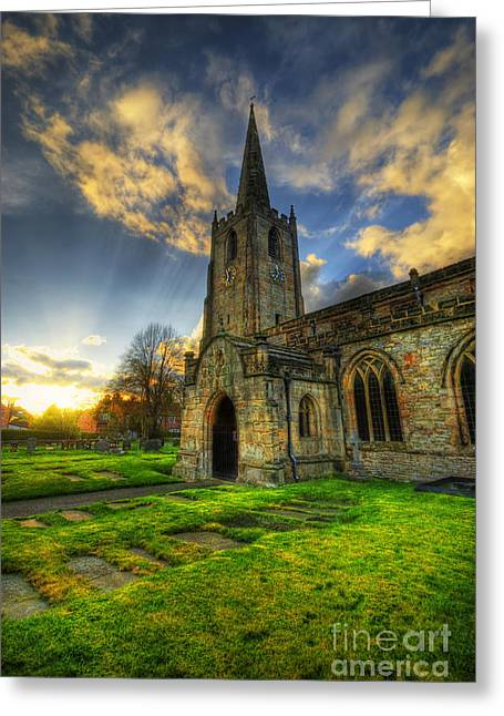 Hdr Landscape Greeting Cards - Church Of St. Mary The Virgin Greeting Card by Yhun Suarez