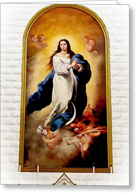 Virgin Mary Greeting Cards - Church of the Assumption of Mary - Qibao Shanghai Greeting Card by Christine Till