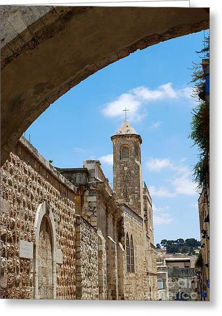 Condemnation Greeting Cards - Church of the Flagellation Jerusalem Greeting Card by Eva Kaufman