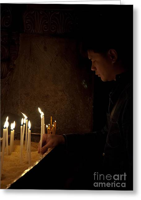 Mideast Greeting Cards - Church of the Holy Sepulchre Greeting Card by Ilan Amihai
