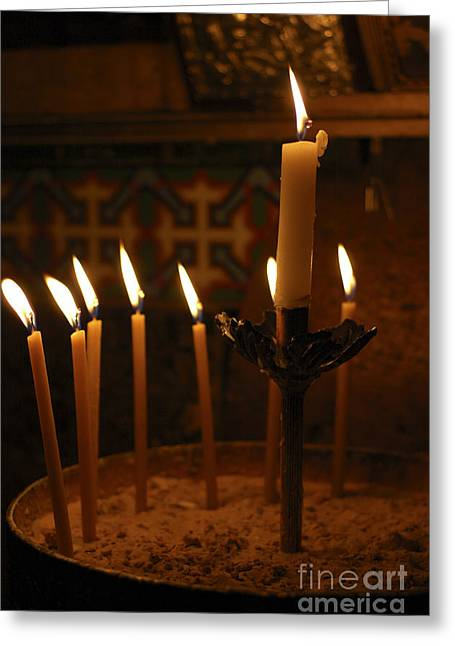 The Followers Photographs Greeting Cards - Church of the Holy Sepulchre Jerusalem Greeting Card by Shay Levy
