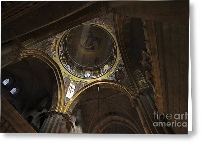 Psi Greeting Cards - church of the holy sepulchre Jerusalem Greeting Card by Vladi Alon