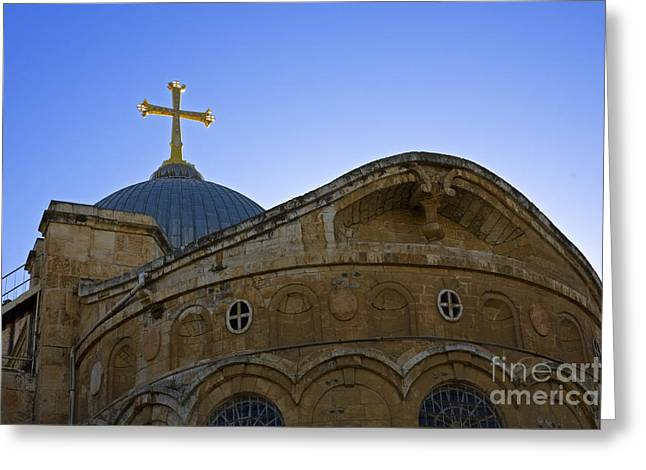church of the Holy Sepulchre Old city Jerusalem Greeting Card by Ilan Rosen