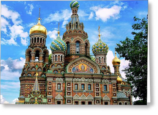 Tsar Alexander Greeting Cards - Church of the Spilled Blood Greeting Card by Gary Little