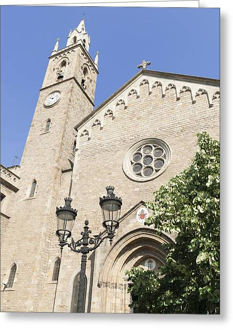 Catalunya Greeting Cards - Church Parroquia de la Purissima Concepcio Barcelona Spain Greeting Card by Matthias Hauser