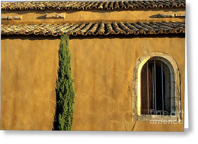 South Of France Photographs Greeting Cards - Church. Provence Greeting Card by Bernard Jaubert
