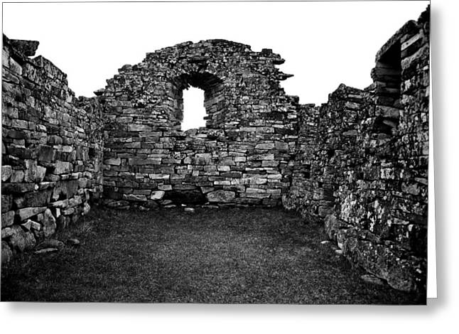 Greenland Greeting Cards - Church Ruins Hvalsey Greeting Card by Juergen Weiss