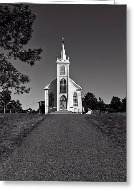 Rural Church Greeting Cards - Church St Teresas of Avila  Greeting Card by Garry Gay