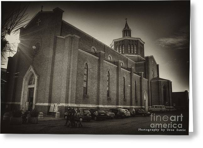 Uros Zunic Greeting Cards - Church Greeting Card by Uros Zunic