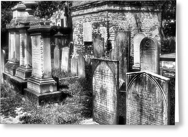 Churchyard of Old Charleston Greeting Card by Steven Ainsworth
