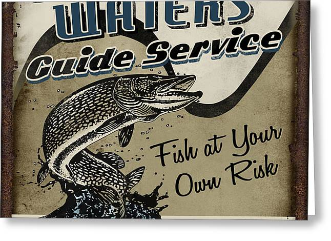 Churning Waters Guide Service Greeting Card by JQ Licensing