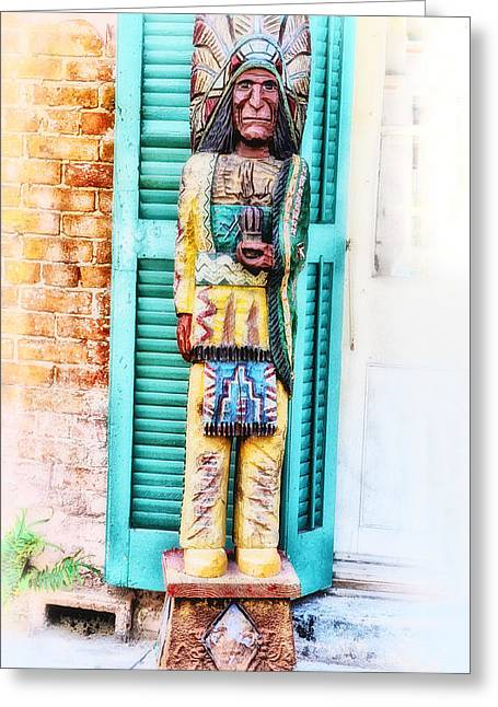 Cigar Digital Greeting Cards - Cigar Store Indian - New Orleans Greeting Card by Bill Cannon