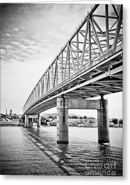 Truss Bridge Greeting Cards - Cincinnati Bridge Taylor Southgate Greeting Card by Paul Velgos