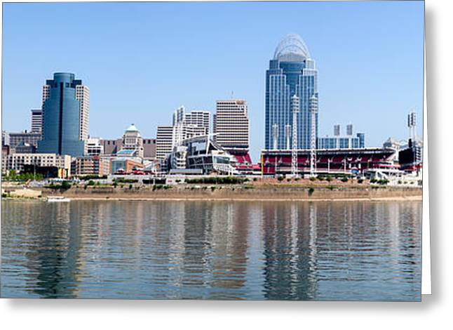 Cincinnati Panorama Skyline Greeting Card by Paul Velgos