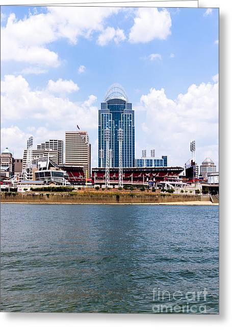 Cincinnati Skyline And Downtown City Buildings Photo Greeting Card by Paul Velgos