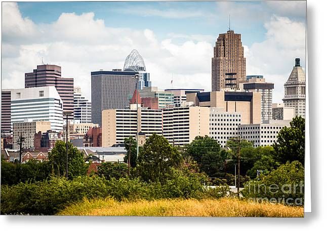 Pnc Greeting Cards - Cincinnati Skyline Downtown City Buildings Greeting Card by Paul Velgos