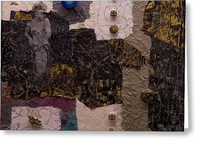 Ultra Modern Paintings Greeting Cards - Cinderfella Greeting Card by Marie Cummings