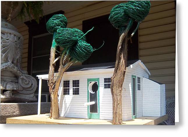 Lake Sculptures Greeting Cards - Cindy And Mikes Cottage Greeting Card by Gordon Wendling