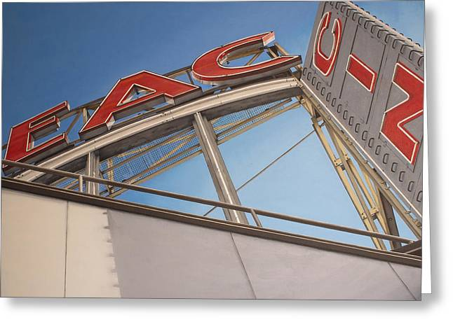 Photorealism Greeting Cards - Cineac Reguliersbreestraat Greeting Card by Rob De Vries