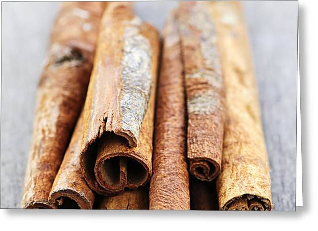 Cinnamon sticks Greeting Card by Elena Elisseeva