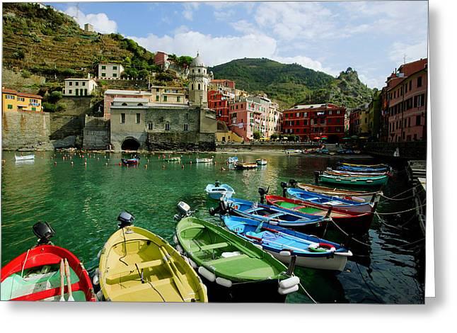 Italian Riveria Greeting Cards - Cinque Terre Greeting Card by John Galbo