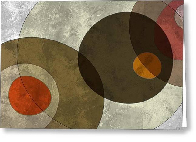 Circled Tones Greeting Card by Nomi Elboim