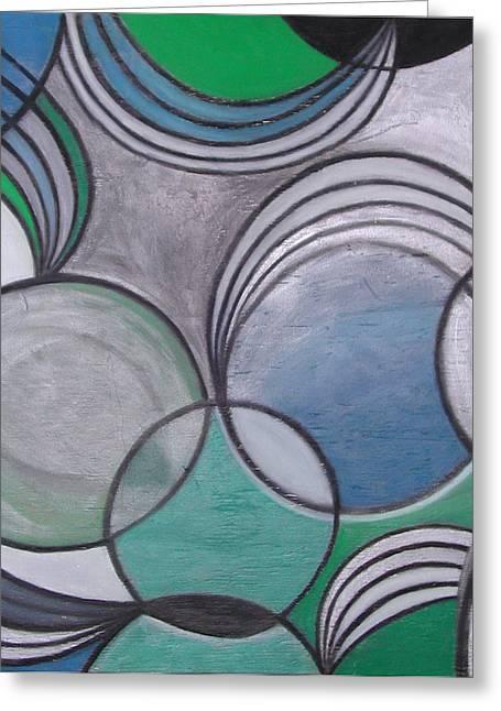 Circle Pastels Greeting Cards - Circles and Springs Greeting Card by Nona Peru