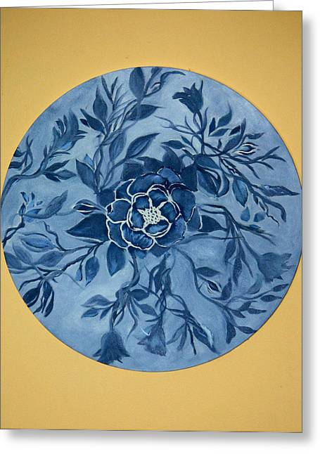 Tangled Up In Blue Greeting Cards - Circles Greeting Card by Gigi Desmond