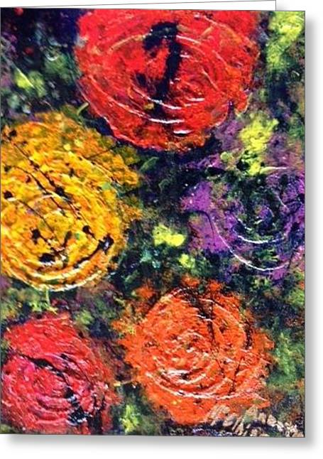 Paintig To Heal Paintings Greeting Cards - Circles of Hope Greeting Card by Annette McElhiney
