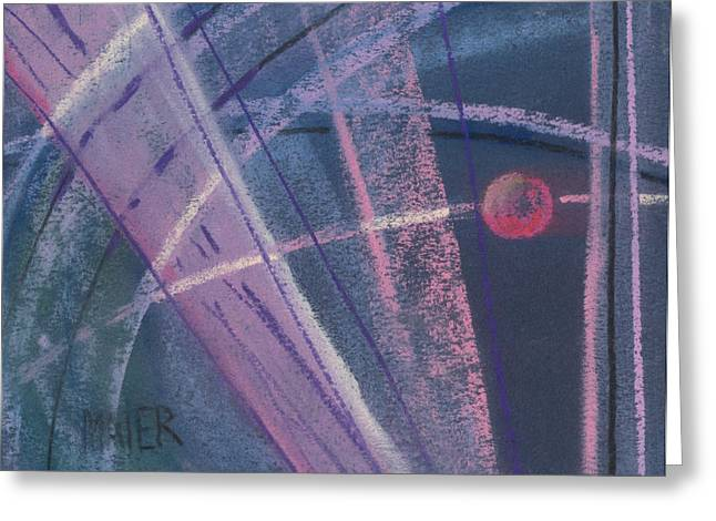 Abstract Geometric Pastels Greeting Cards - Circular Abstract Greeting Card by Donald Maier