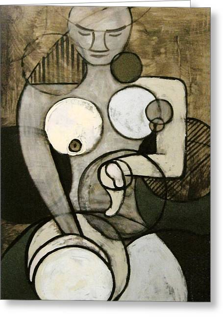 Abstract Nudes Greeting Cards - Circularity 2 Greeting Card by Joanne Claxton