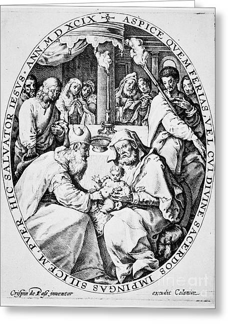 Saint Joseph Greeting Cards - Circumcision Of Christ Greeting Card by Granger