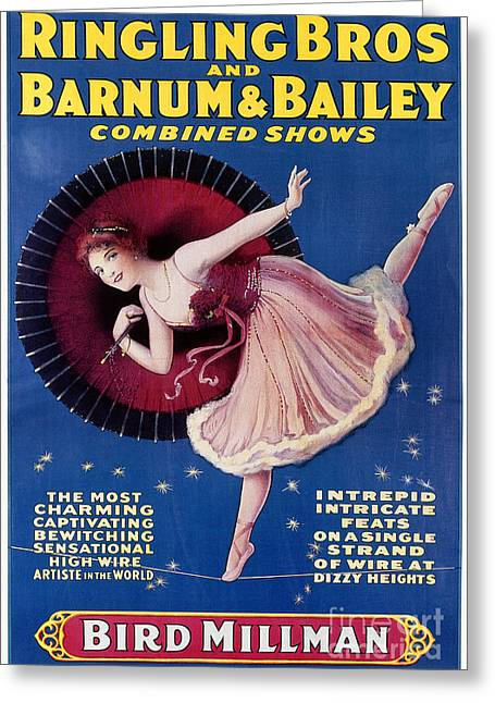 Chromolithograph Greeting Cards - CIRCUS POSTER, c1920 Greeting Card by Granger