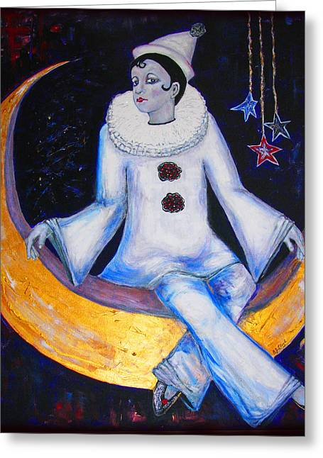 Cirque De La Lune Greeting Card by Barbara Jean Lloyd