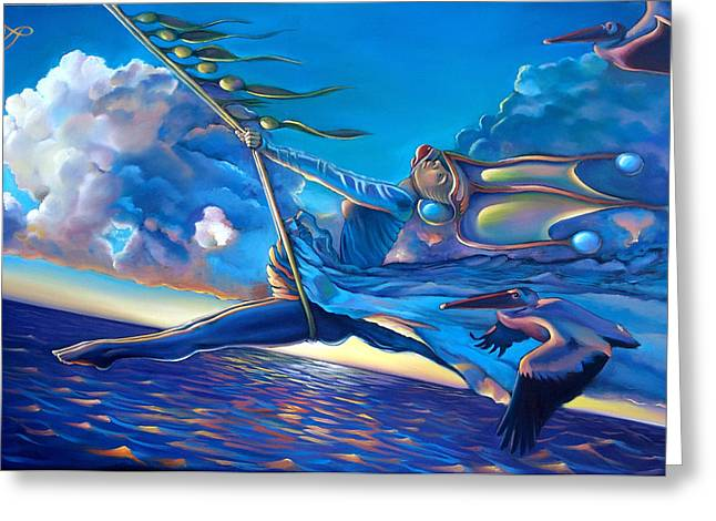 Seaweed Greeting Cards - Cirque du Sole Greeting Card by Patrick Anthony Pierson