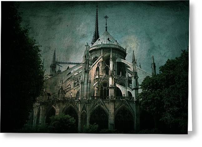 Gothic Dark Church Greeting Cards - Citadel Greeting Card by Andrew Paranavitana