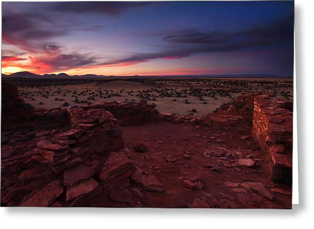 Anasazi Greeting Cards - Citadel Sunset Greeting Card by Mike  Dawson