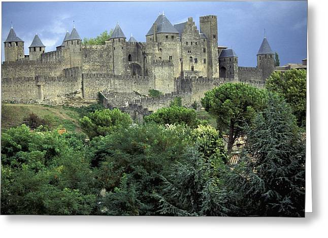 Languedoc Greeting Cards - Cite In Carcassonne World Heritage Site Greeting Card by Axiom Photographic