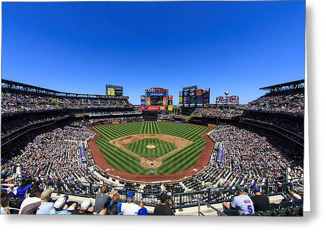 Baseball Stadiums Greeting Cards - Citifield Greeting Card by Rick Berk