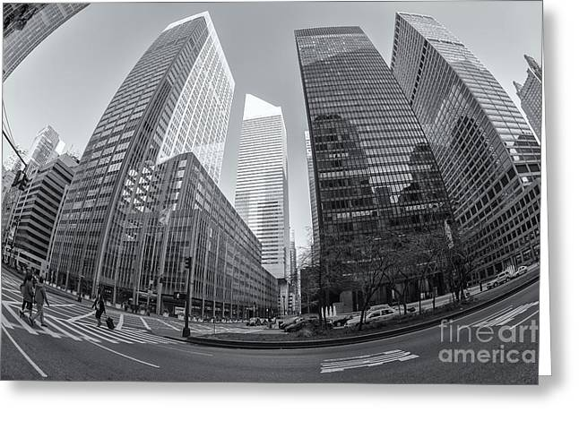 Crosswalk Greeting Cards - Citigroup Center from Park Avenue II Greeting Card by Clarence Holmes