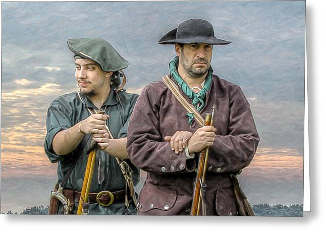 Seven Years War Greeting Cards - Citizen Soldiers Greeting Card by Randy Steele