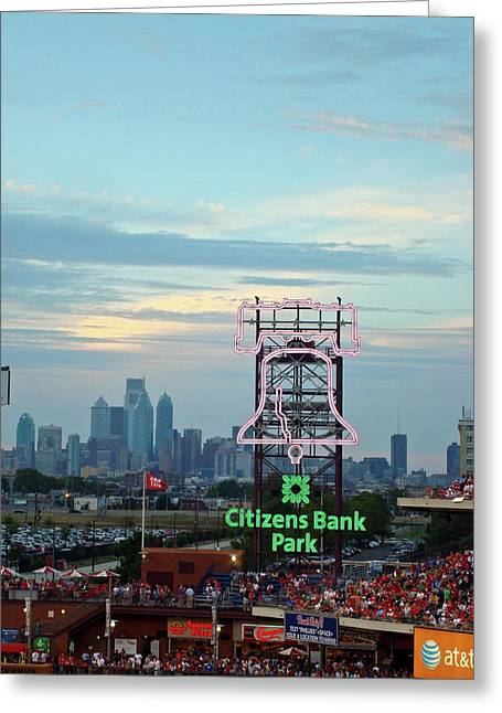 Citizens Bank Park 1 Greeting Card by See Me Beautiful Photography