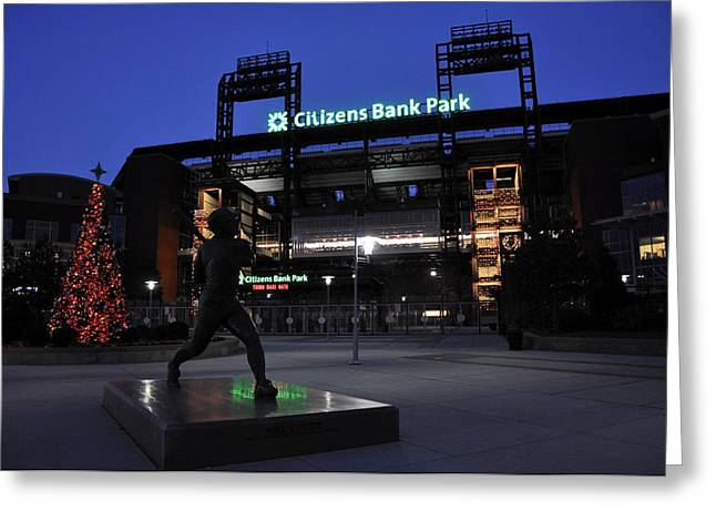 Citizens Bank Greeting Cards - Citizens Bank Park Greeting Card by Andrew Dinh